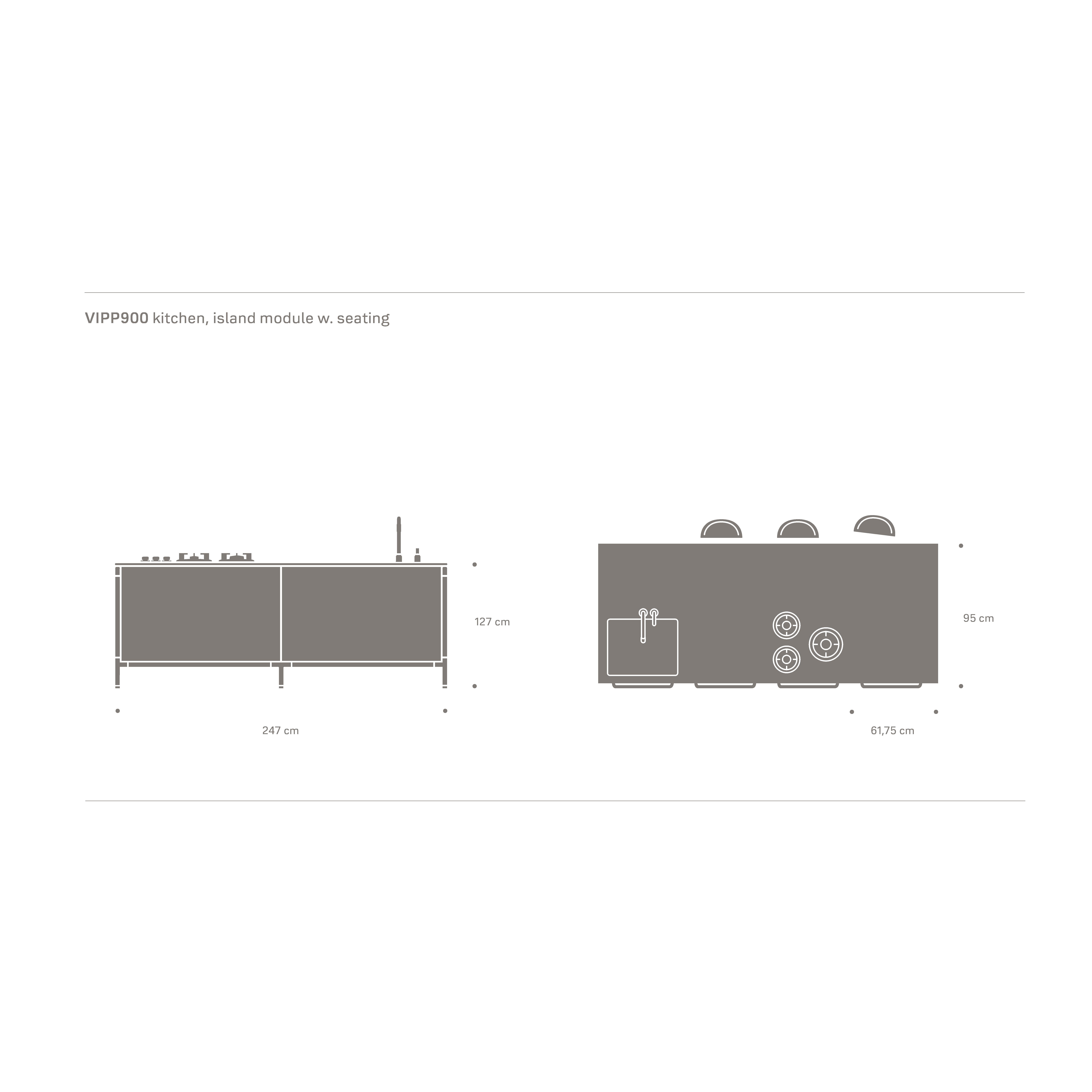 Technische Angaben zum Inselmodul | vipp.com